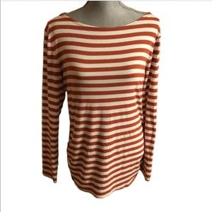 Wearables By XCVI Striped Gathered Tunic Top Tee